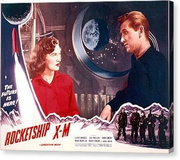 1950 Movies Canvas Print - Rocketship X-m, Osa Massen & Lloyd by Everett