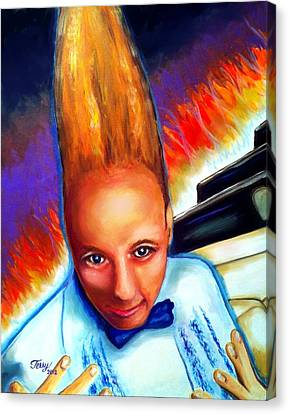 Rockin Vince Vance Canvas Print by Terry J Marks Sr