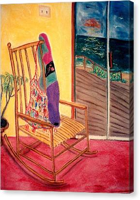 Rocking Chair Canvas Print by Eliezer Sobel