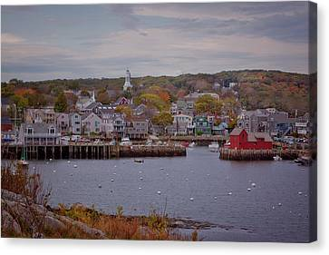 Canvas Print featuring the photograph Rockport Harbor by Tom Singleton