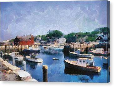 Rockport Maine Harbor Canvas Print by Michelle Calkins
