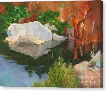 Rockport Quarry Reflection Canvas Print