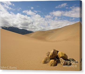 Rocks In The Mountains Canvas Print