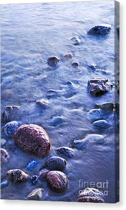Rocks In Water Canvas Print