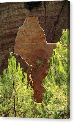 Rocks. Ochre.  Roussillon. Luberon. France. Europe Canvas Print by Bernard Jaubert