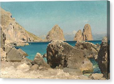 Rocks Of The Sirens Canvas Print by Frederic Leighton