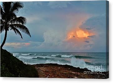 Lynda Dawson-youngclaus Canvas Print - Rocks Sunset Glow by Lynda Dawson-Youngclaus