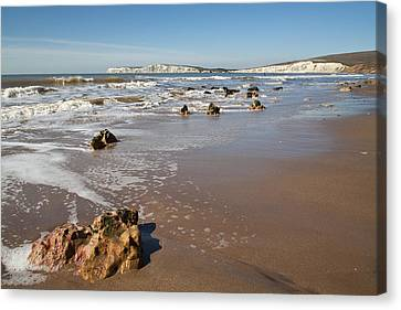 Canvas Print featuring the photograph Rocky Bay by Shirley Mitchell