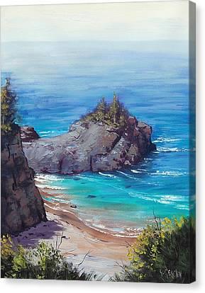 Big Sur California Canvas Print - Rocky Coast Big Sur  by Graham Gercken