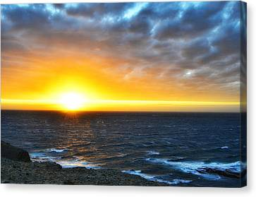 Rocky Harbour Nl Sunset Canvas Print by Steve Hurt