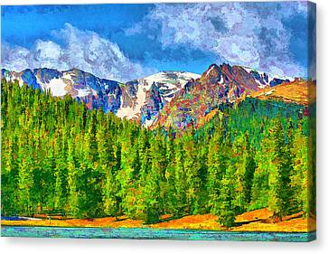 Canvas Print featuring the digital art Rocky Mountain High by Brian Davis