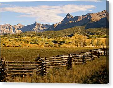 Rocky Mountain Ranch Canvas Print by Steve Stuller
