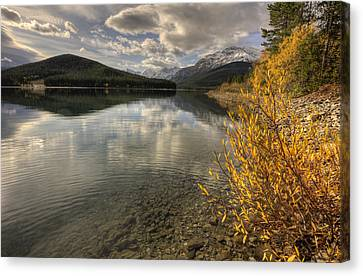 Rocky Mountains Kananaskis Alberta Canvas Print by Mark Duffy