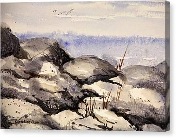 Rocky Shore Canvas Print by Kristine Plum