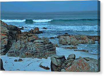 Canvas Print featuring the photograph Rocky Shores by Renee Hardison