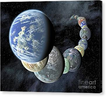 Rocky, Terrestrial Worlds Canvas Print by Stocktrek Images