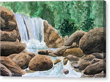 Rocky Waterfalls Canvas Print by Anthony Nold