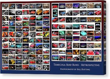 Canvas Print featuring the photograph Rod Run Retrospective by Bill Dutting