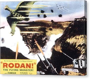 Rodan, Aka Rodan The Flying Monster Canvas Print by Everett
