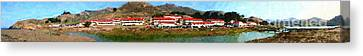 Rodeo Lagoon In The Marin Headlands California . Panorama . Painterly Style Canvas Print by Wingsdomain Art and Photography