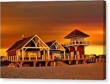 Roger W. Wheeler State Beach Canvas Print by Lourry Legarde