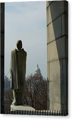 Roger Williams And His Capitol Canvas Print