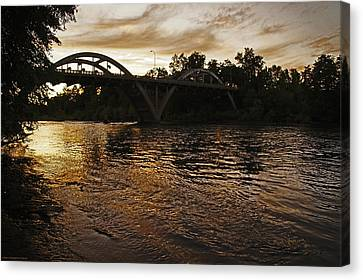 Rogue River Sunset Canvas Print
