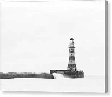 Roker Pier And Lighthouse, Sunderland, Uk Canvas Print by Jason Friend Photography Ltd