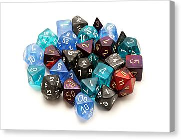 Platonic Canvas Print - Role-playing Dices by Fabrizio Troiani