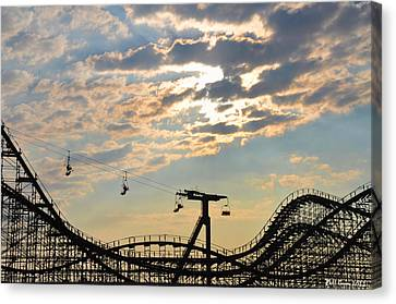 Roller Coaster - Wildwood Nj Canvas Print by Bill Cannon