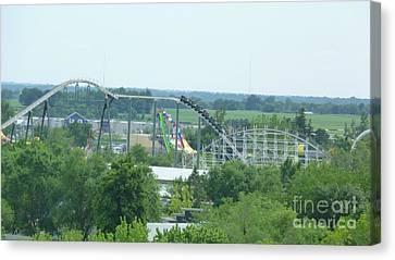 Roller Coaster Skyline Canvas Print by Kelly Schwartz