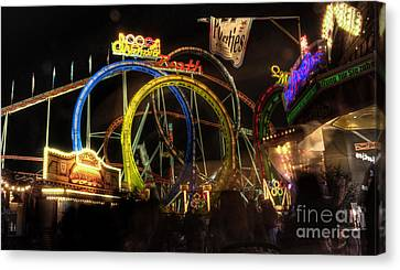 Rollercoaster At The Dom Canvas Print by Rob Hawkins