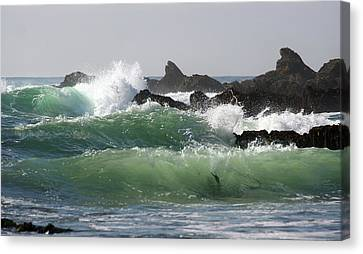 Canvas Print featuring the photograph Rolling Green Waves by Michael Rock