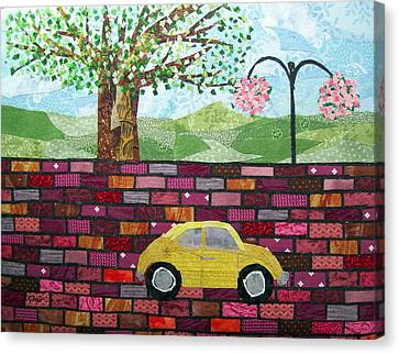 Rolling On The Bricks Canvas Print by Charlene White