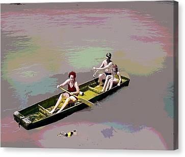 Rolling On The River Canvas Print by Charles Shoup