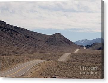 Rolling Two Lane Highway Canvas Print by Ei Katsumata