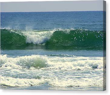 Canvas Print featuring the photograph Rolling Wave by Kelly Nowak
