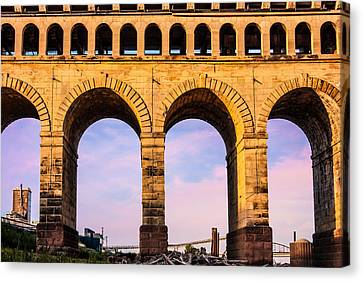 Roman Arches Canvas Print by Semmick Photo