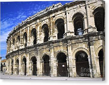 Roman Arena In Nimes France Canvas Print