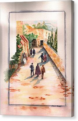Canvas Print featuring the painting Roman Avenue by Sharon Mick