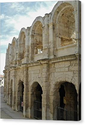 Canvas Print featuring the photograph Roman Coliseum In Arles by Kirsten Giving