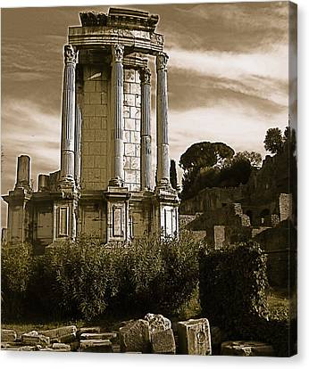 Canvas Print featuring the photograph Roman Column by Blake Yeager