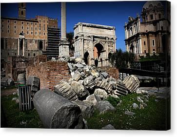 Roman Forum Canvas Print by Kevin Flynn