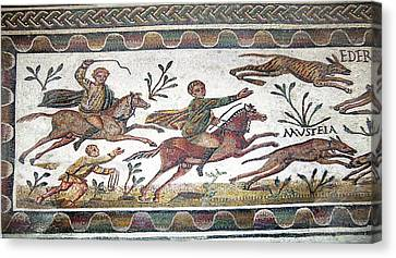 Roman Mosaic Canvas Print by Sheila Terry
