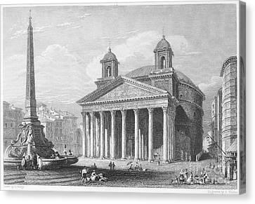 Roman Pantheon, 1833 Canvas Print by Granger