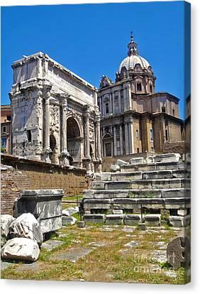 Roman Ruins - Roman Forum Canvas Print by Gregory Dyer