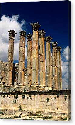 Roman Ruins At Jerash, Jordan Canvas Print by Richard Nowitz
