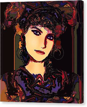 Romantic Lady Canvas Print by Natalie Holland