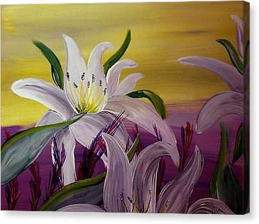 Silver Moonlight Canvas Print - Romantic Spring by Mark Moore
