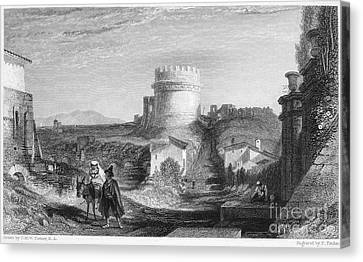 Rome: Appian Way, 1833 Canvas Print by Granger